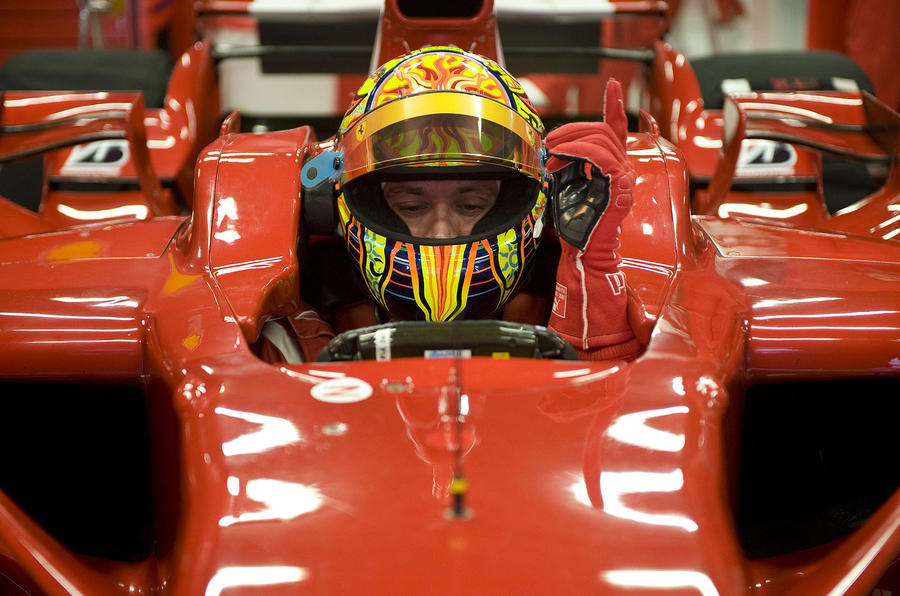 Rossi impresses in Ferrari test
