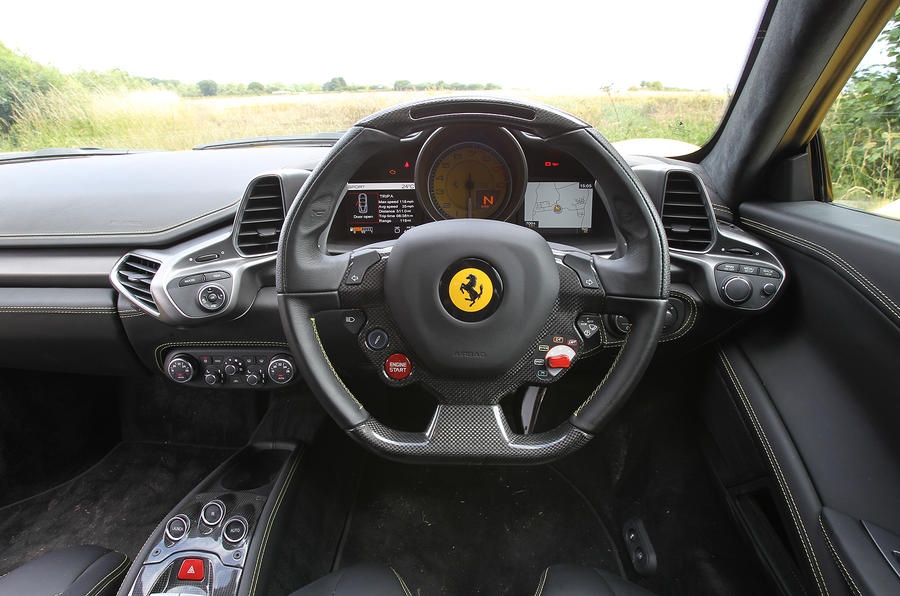 Ferrari 458 dashboard