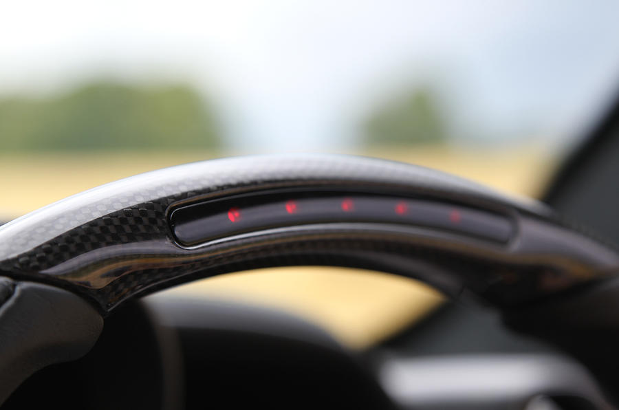 Ferrari 458 steering wheel rev counter