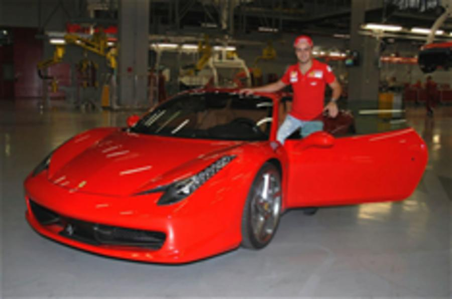 Massa meets the Ferrari 458