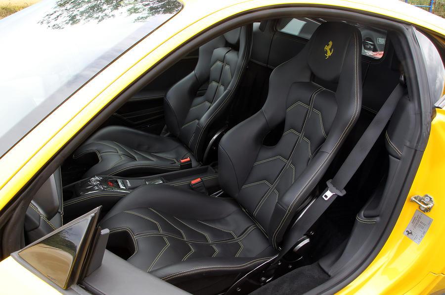 Ferrari 458 front sport seats
