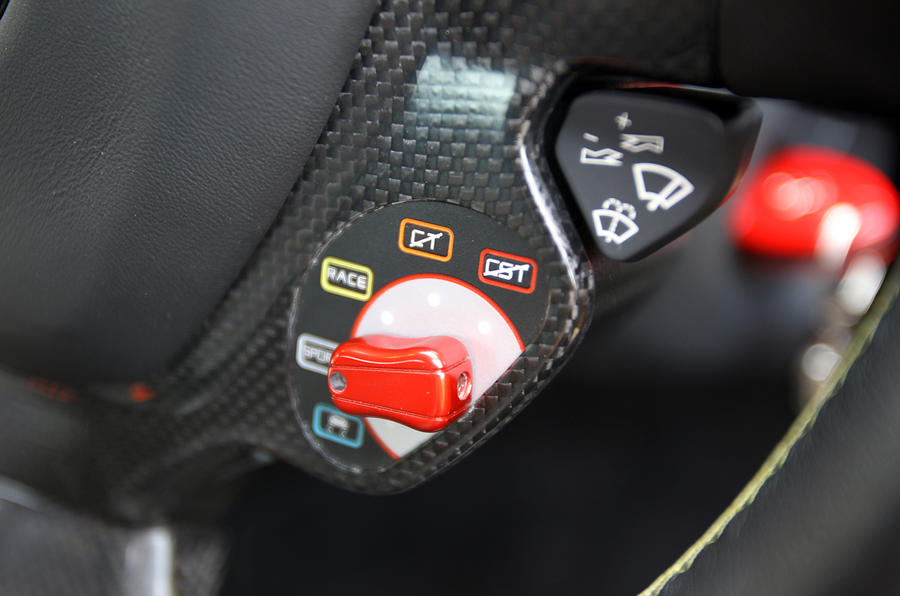 Ferrari 458 driving mode switch