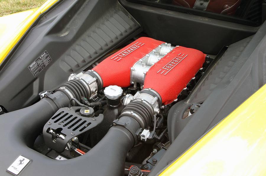 4.5-litre V8 Ferrari 458 engine