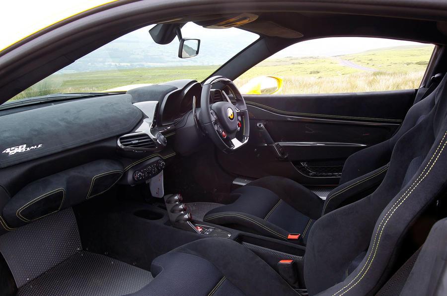 Ferrari 458 Speciale interior