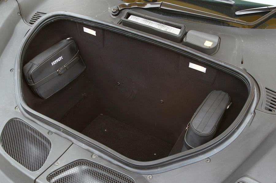 Ferrari 458 Speciale boot space