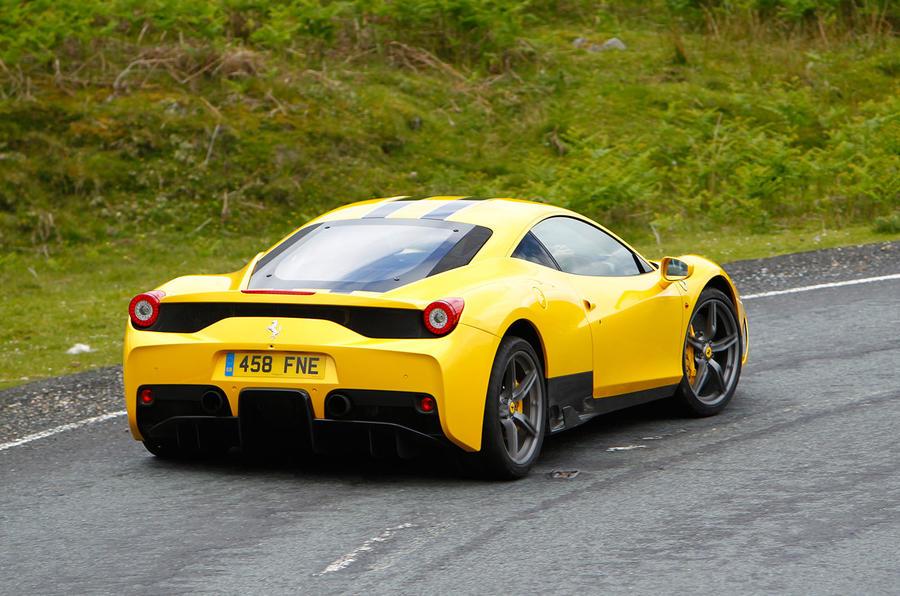Ferrari 458 Speciale rear cornering