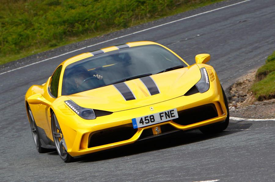 Ferrari 458 Speciale cornering