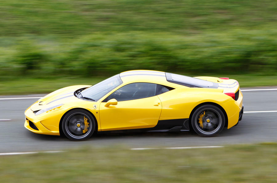 Ferrari 458 Speciale side profile