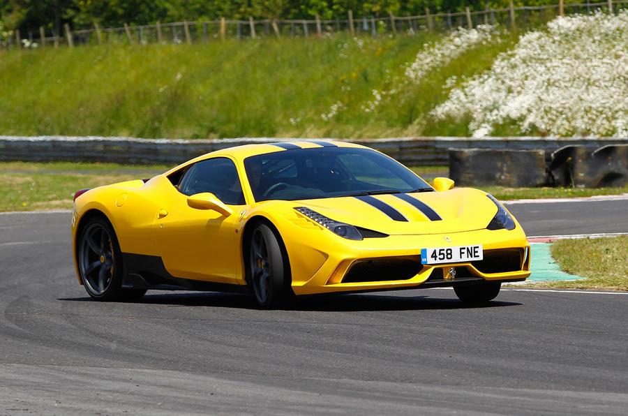 Ferrari 458 Speciale hard cornering