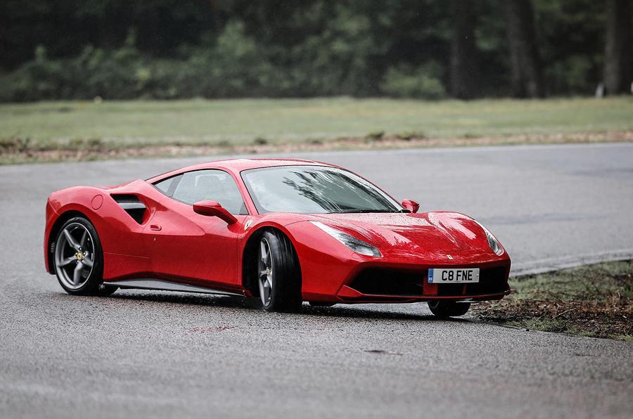 Ferrari 488 GTB cornering