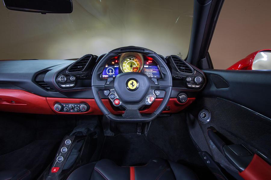 Ferrari 488 interior