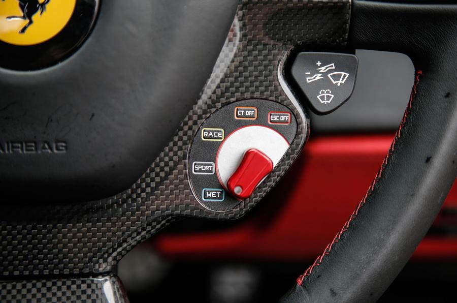 Ferrari 488 GTB dynamic controls