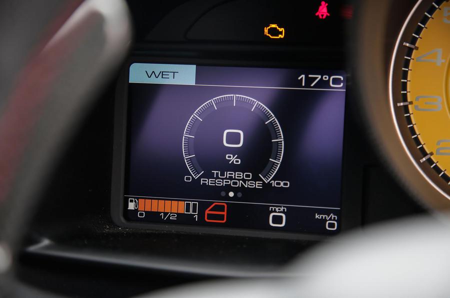 Ferrari 488 GTB digital speedo