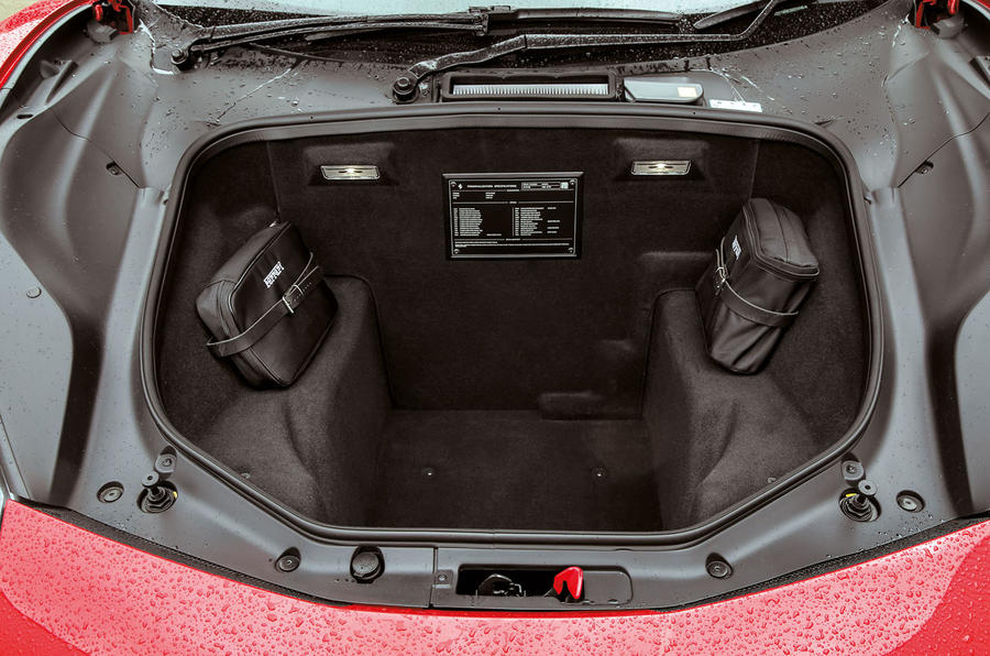 Ferrari 488 GTB boot space