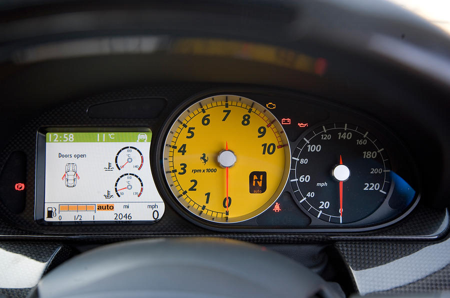 Ferrari 599 instrument cluster