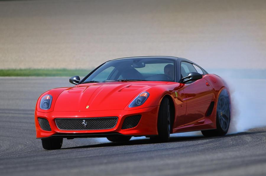 Ferrari 599 GTO drifting
