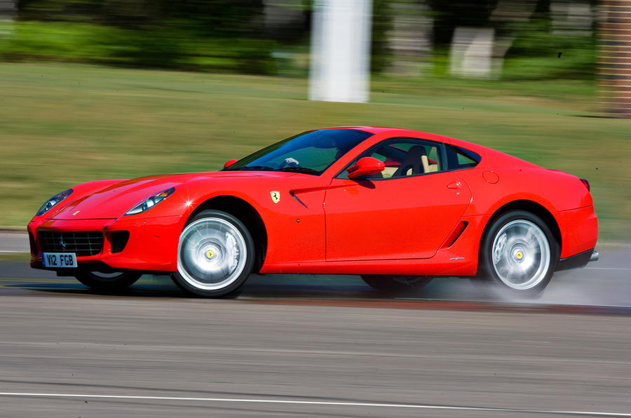 Ferrari 599 hard cornering