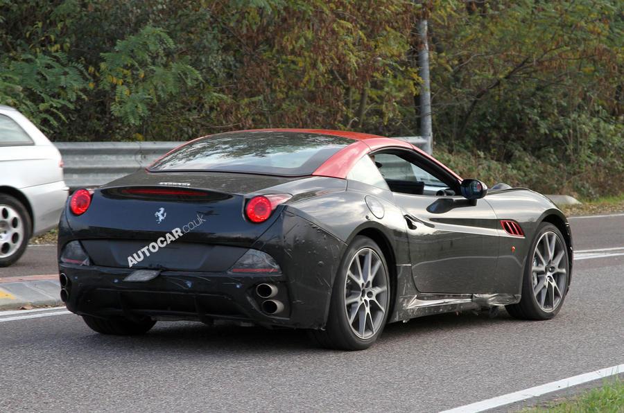 Faster Ferrari California spied