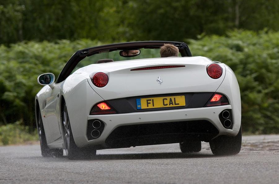 Ferrari California rear cornering