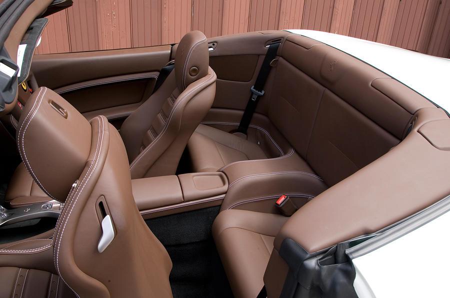 Ferrari California rear seats
