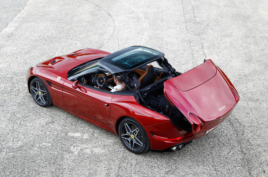 Ferrari California roof folding down