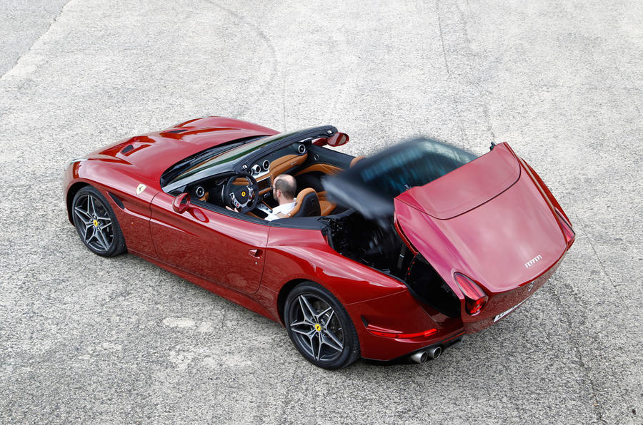 Ferrari California T roof down