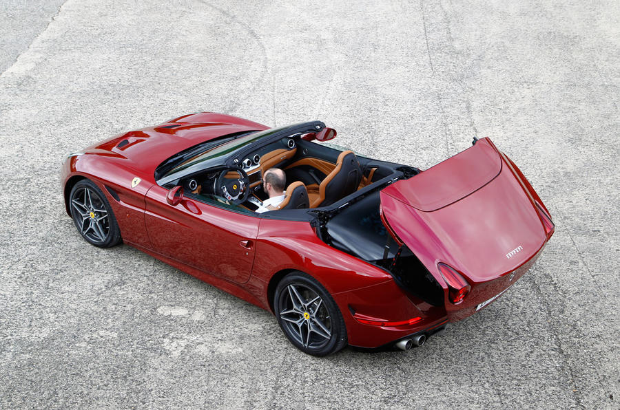 Ferrari California T's roof down