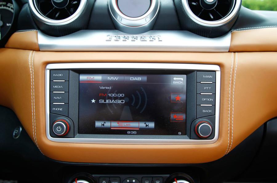 Ferrari California T infotainment system