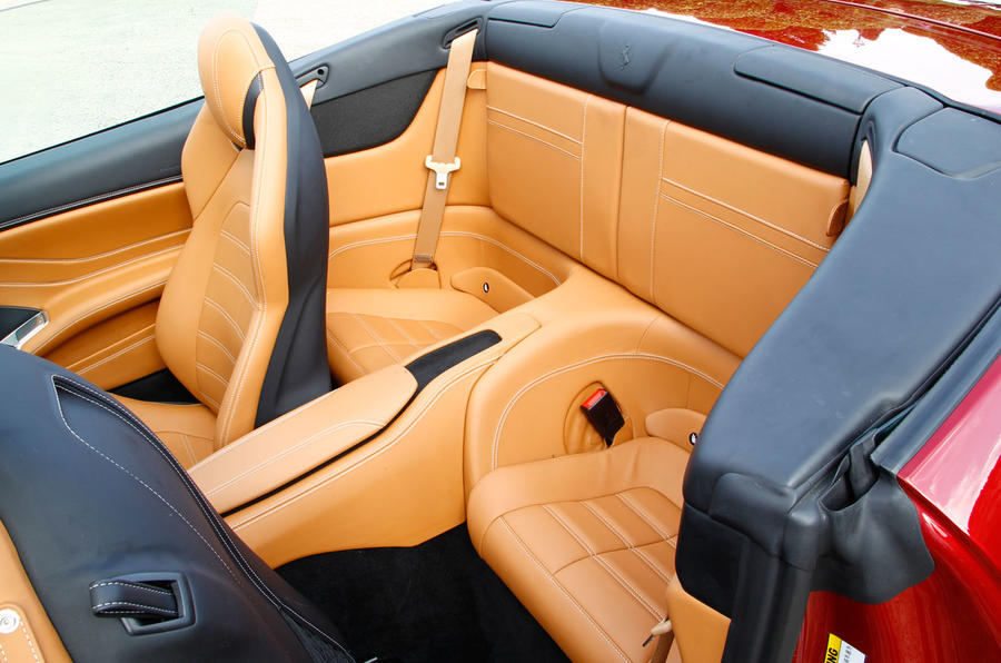 Ferrari California T rear seats
