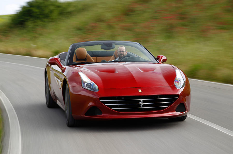 Ferrari California T cornering