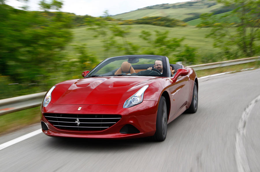 Ferrari California T hard cornering