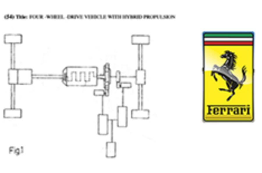 Ferrari's 4x4 hybrid plans leak