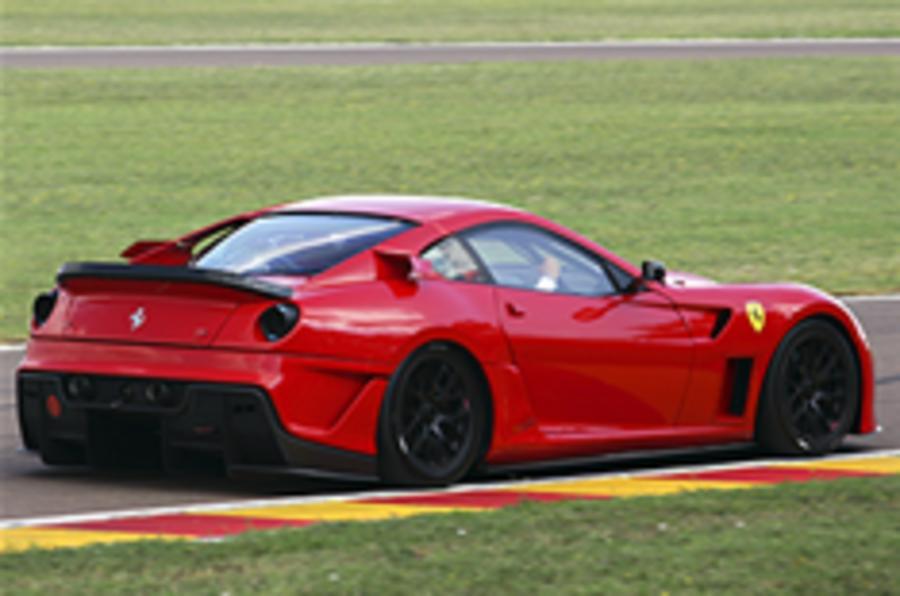 Hardcore Ferrari 599XX spied