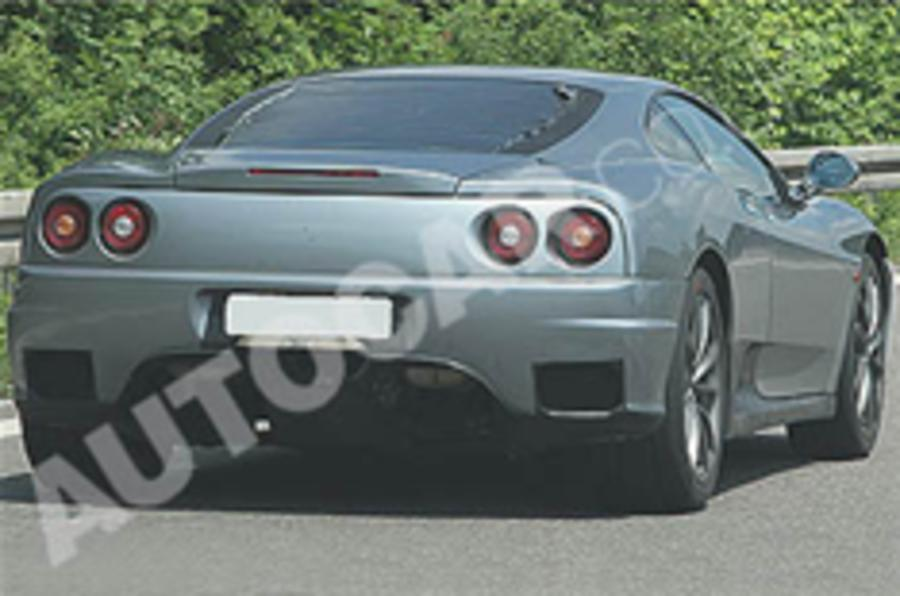 Ferrari test mule snapped