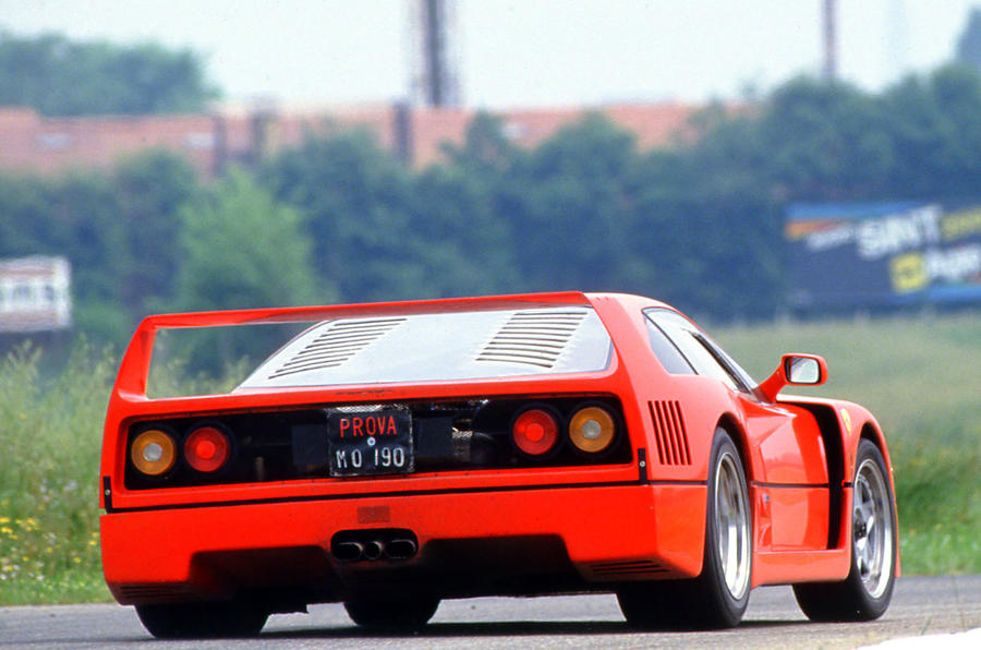 Ferrari F40 0-62mph time of 3.1sec