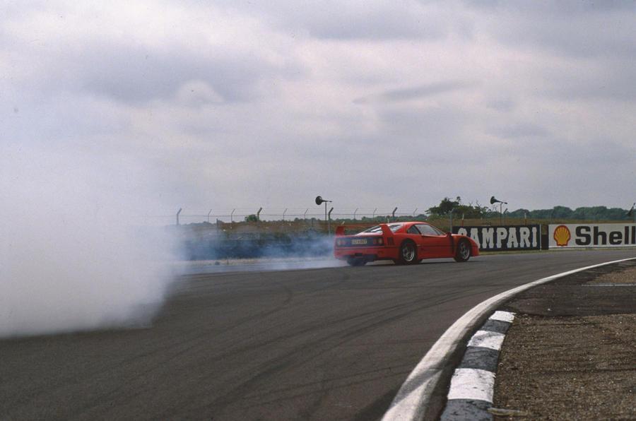 Drifting the Ferrari F40