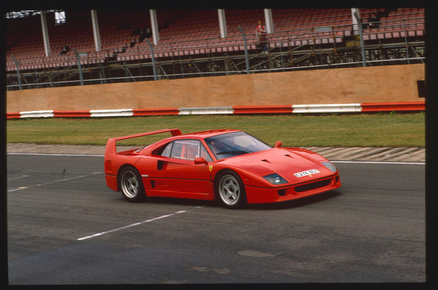 Ferrari F40 on track