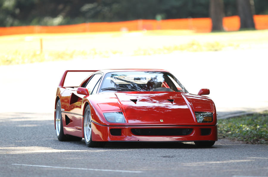Ferrari F40 cornering