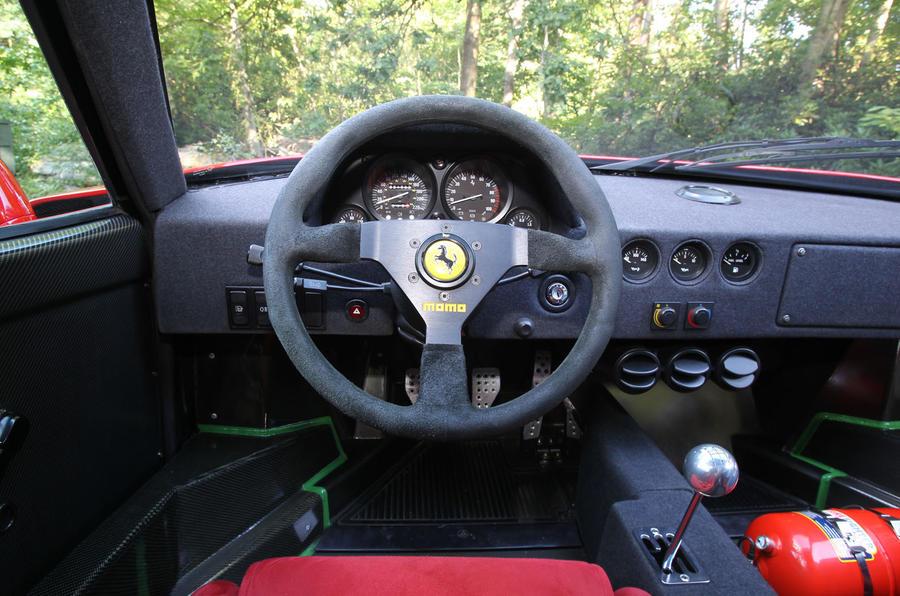 Ferrari F40 dashboard