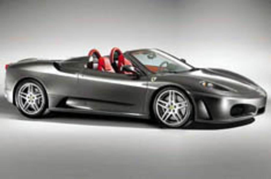 Covers come off Ferrari's F430 Spider