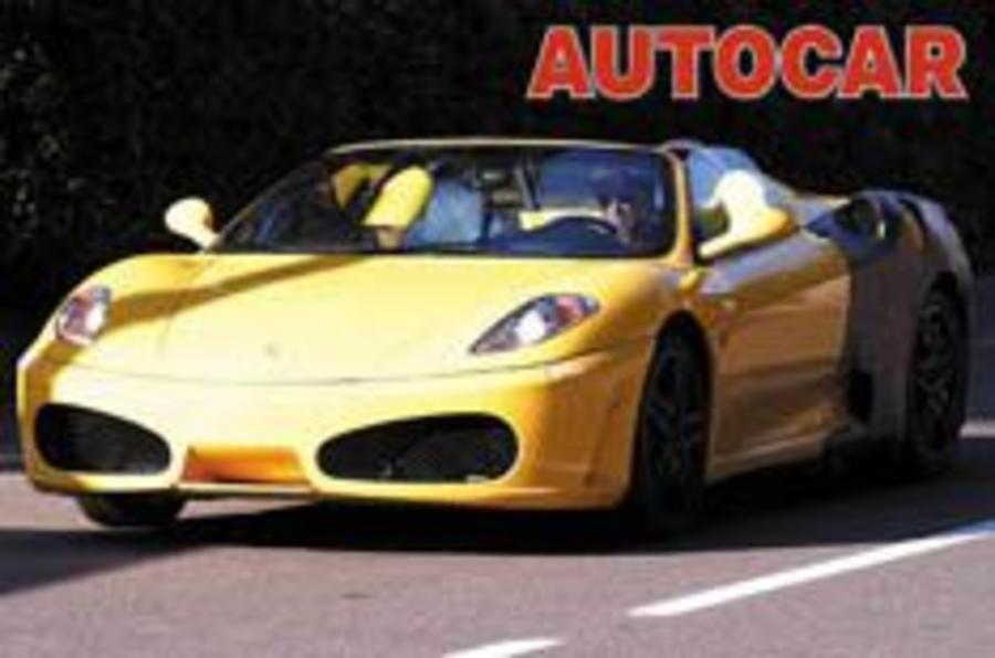 New Ferrari Spider comes out of hiding