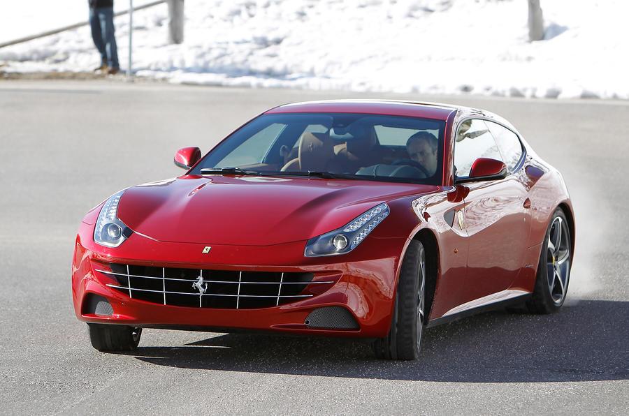 Ferrari FF hard cornering