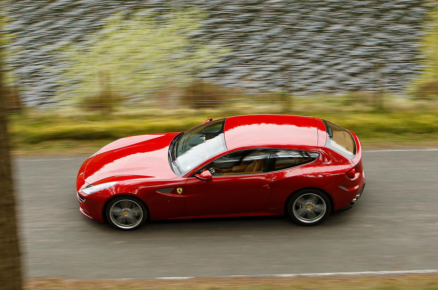 Ferrari FF cornering