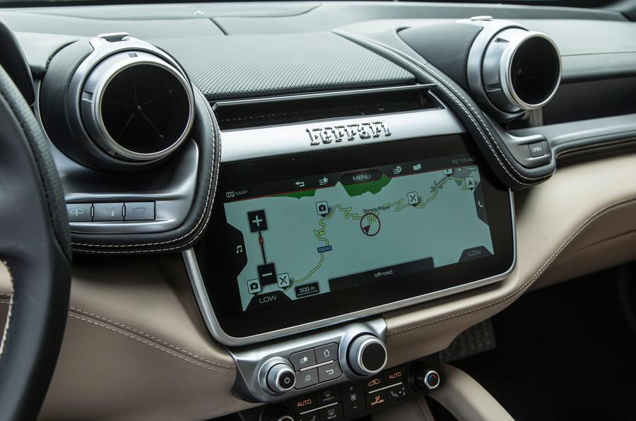 Ferrari GTC4 Lusso infotainment system