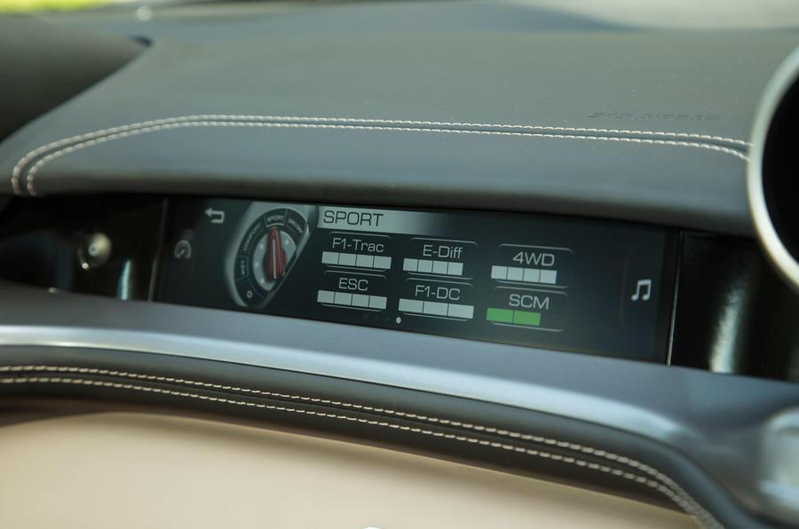 Ferrari GTC4 Lusso passenger display