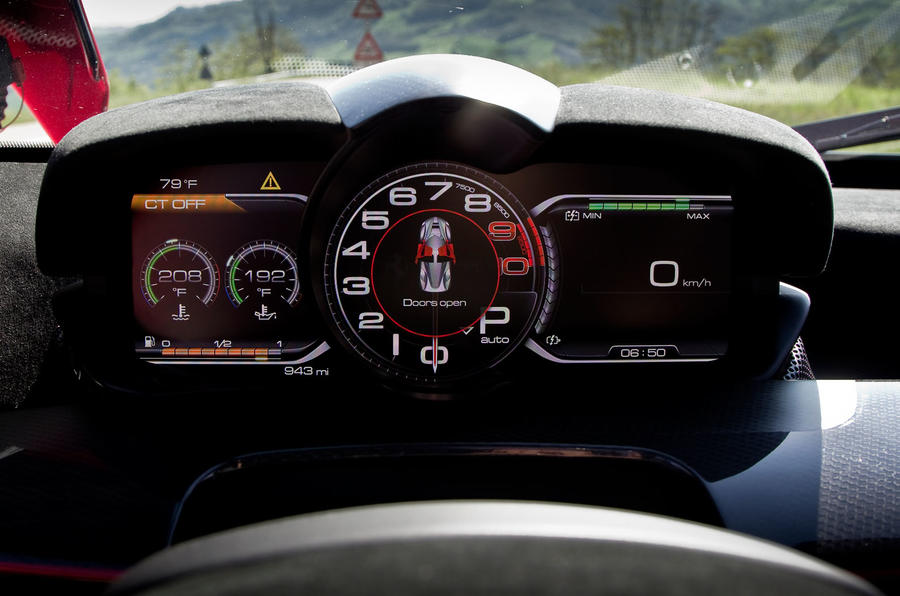 Ferrari LaFerrari digital instrument cluster