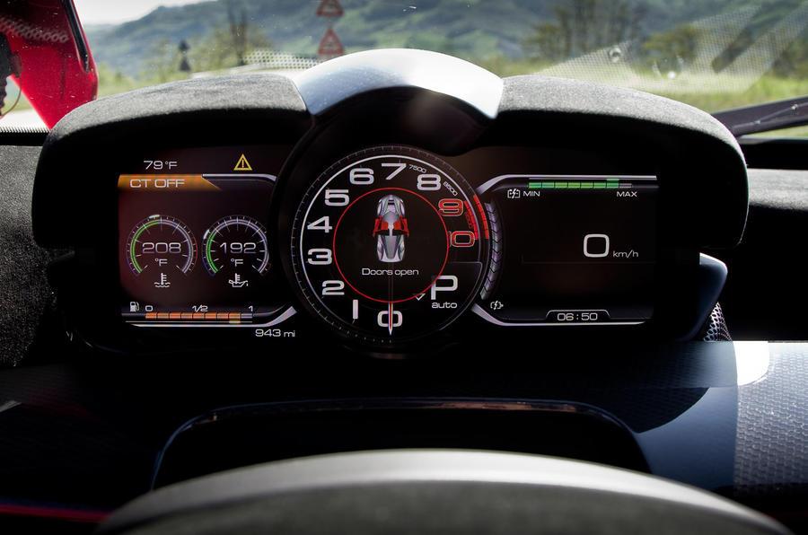 Ferrari LaFerrari digital instrument cluster