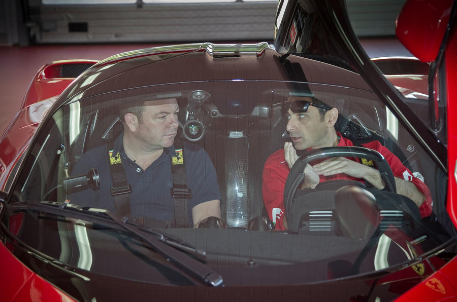 Ferrari LaFerrari driver's cockpit