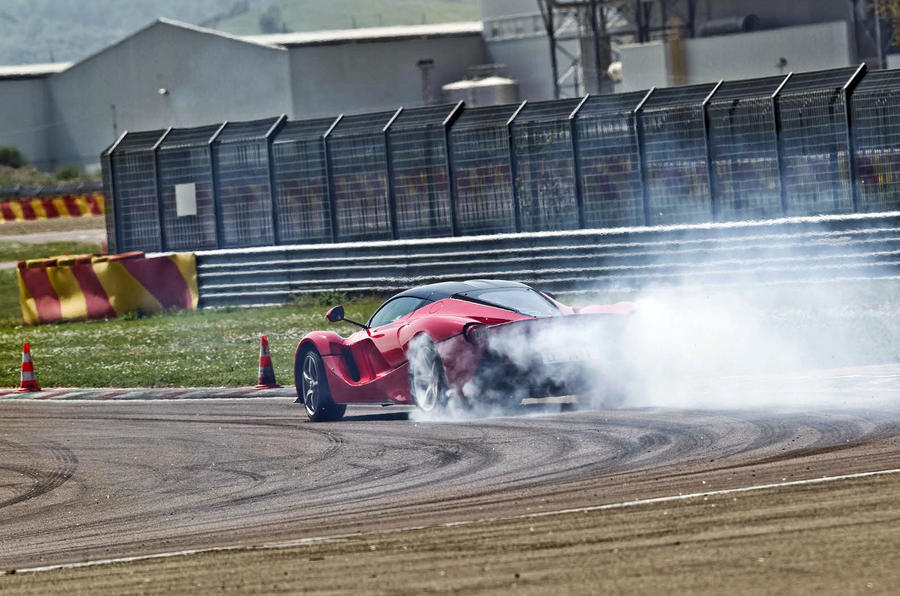 Ferrari LaFerrari rear drifiting