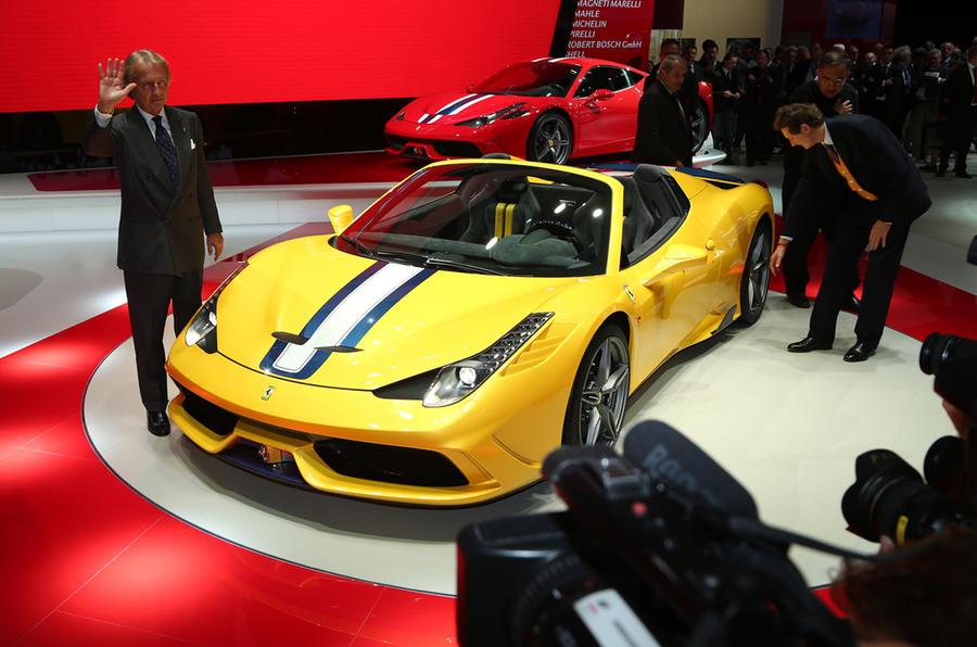 Luca di montezemolo s final function was to unveil the new ferrari 458